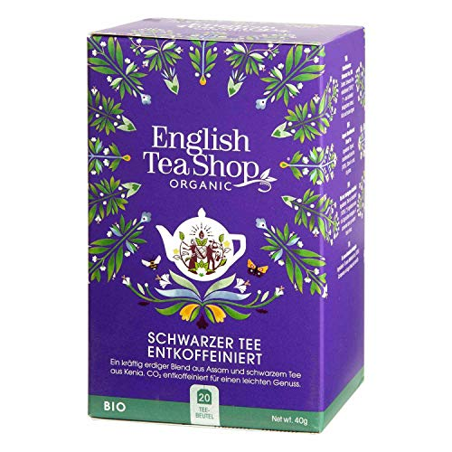 English Tea Shop - Schwarzer Tee ENTKOFFEINIERT, BIO, 20 Teebeutel - (DE-Version) von English Tea Shop