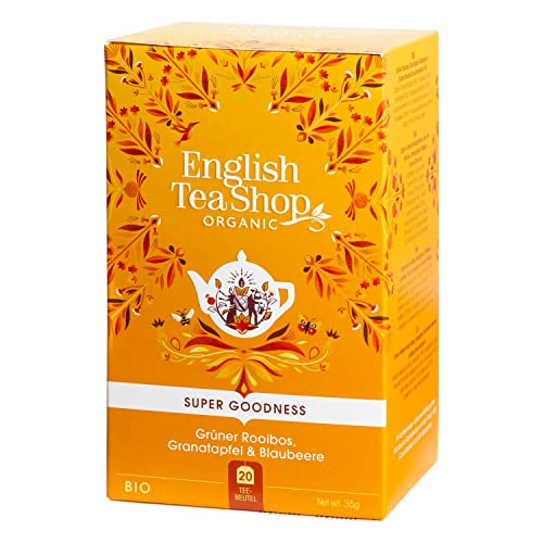 English Tea Shop - Grüner Rooibos, Granatapfel & Blaubeere, BIO, 20 Teebeutel (DE-Version) von English Tea Shop