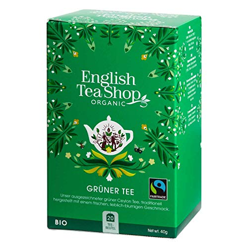 English Tea Shop - Grüner Tee, BIO Fairtrade, 20 Teebeutel - (DE-Version) von English Tea Shop