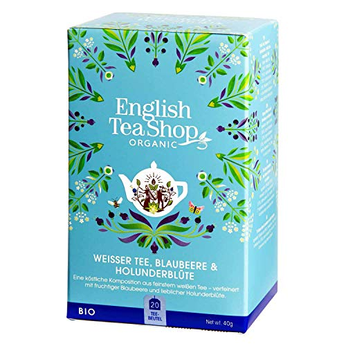 English Tea Shop - Weißer Tee, Blaubeere & Holunderblüte, BIO, 20 Teebeutel - (DE-Version) von English Tea Shop