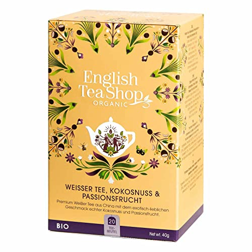 English Tea Shop - Weißer Tee, Kokosnuss & Passionsfrucht, BIO, 20 Teebeutel - (DE-Version) von English Tea Shop