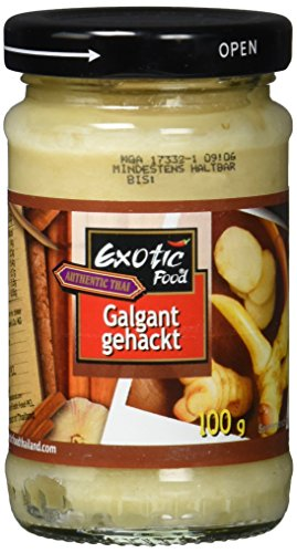 Exotic Food Galgant, gehackt in Sojabohnenöl, 3er Pack (3 x 100 g) von Exotic Food