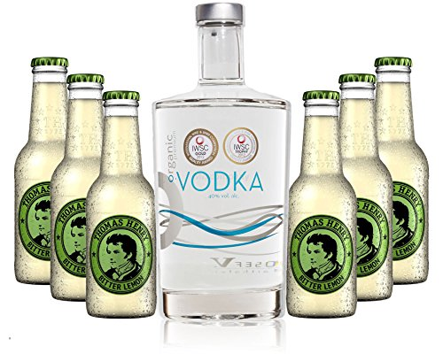 Vodka Lemon Set - Organic Vodka 0,7l 700ml (40% Vol) + 6x Thomas Henry Bitter Lemon 200ml - Inkl. Pfand MEHRWEG von Thomas Henry-Thomas Henry