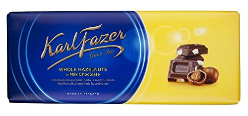 Fazer Blue Milk Chocolate with Whole Hazelnuts 200g Chocolate Bar by Fazer von Fazer