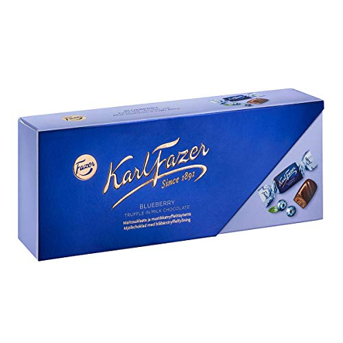 Fazer Milk Chocolate Blueberry truffle box 270g (set of six) = 1620 grams Milchschokolade Blueberry Trüffel Box 270g (Satz von sechs) von Fazer