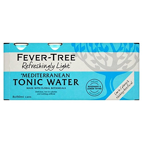 Fever Tree Refreshingly Light Mediterranean Tonic Water, 8 x 150 ml (Pack of 3, Total 24 Cans) von Fever Tree