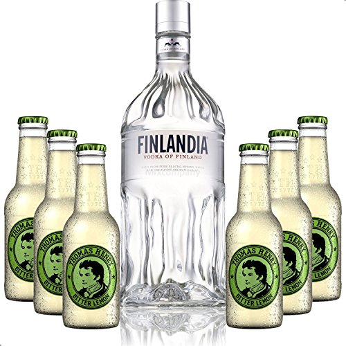 Vodka Lemon Set - Finlandia Vodka 1L (40% Vol) + 6x Thomas Henry Bitter Lemon 200ml - Inkl. Pfand MEHRWEG von Thomas Henry-Thomas Henry