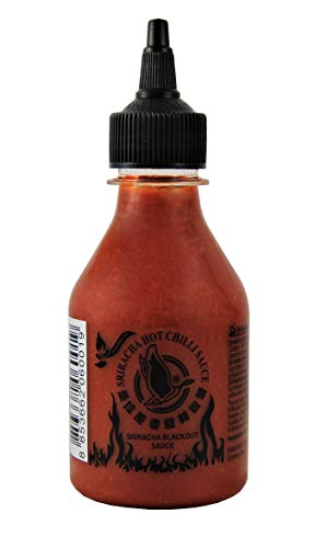 [ 200ml ] FLYING GOOSE Sriracha Hot Chilli BLACKOUT Sauce - EXTREMELY HOT Chilisauce von Flying Goose