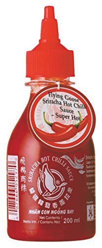 Flying Goose Chilisauce Sriracha extrascharf, 24er Pack (24 x 200 ml) von Flying Goose