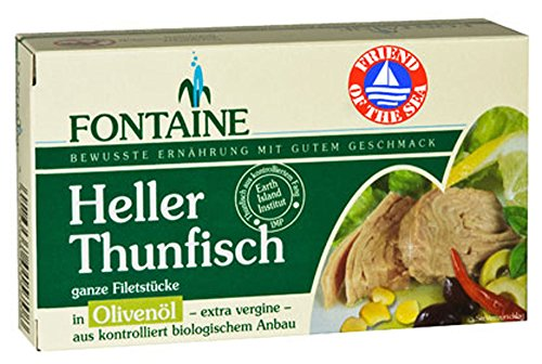10er-VE Heller Thunfisch in Bio-Olivenöl 120g Fontaine von Fontaine