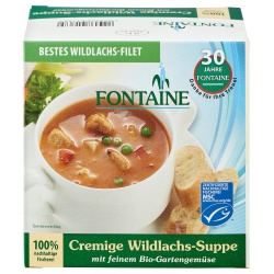 Cremige Wildlachs-Suppe von Fontaine