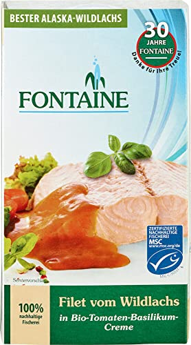 Fontaine Bio Wildlachs-Filet in Bio-Tomaten-Basilikum-Creme (6 x 200 gr) von Fontaine