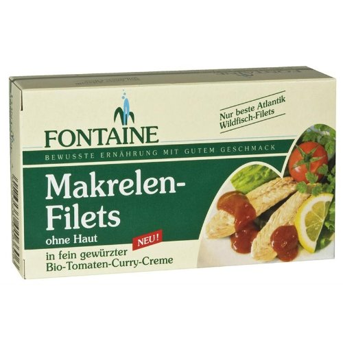 Fontaine Makrelenfilets in Tomaten-Curry-Creme (125 g) von Fontaine