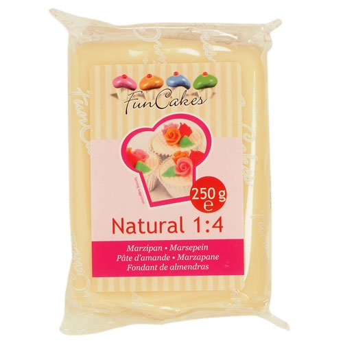 FunCakes Marzipan Natural 1: 4 Ready-to-Roll, 1er Pack (1 x 250 g) von FunCakes