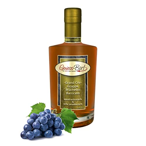 Grand Cru Grappa Brachetto Barricato Riserva 0,5 L 18 Mon. Barrique gereift 42% Vol von Geniess-Bar