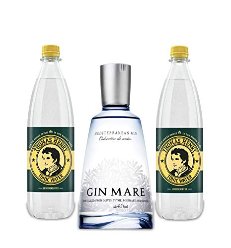 Gin Mare Gin Tonic Set - Gin Mare Gin 700ml (42,7% Vol) + 2 Thomas Henry Tonic Water 1000ml von Gin Mare
