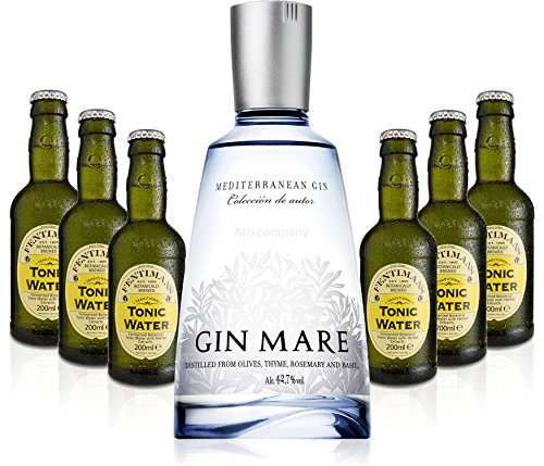 Gin Tonic Set - Gin Mare 50cl (42,7% Vol) + 6x Fentimans Tonic Water 200ml -[Enthält Sulfite] von Gin Mare