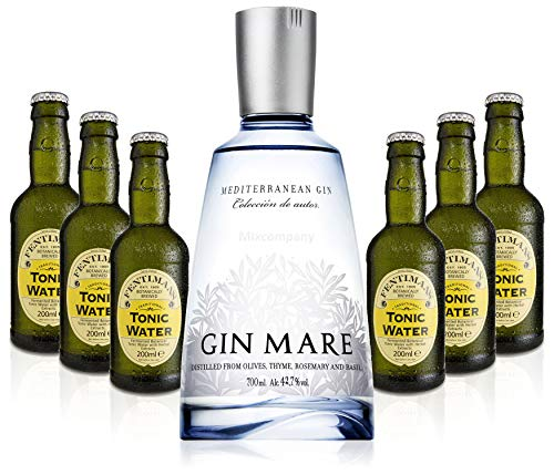 Gin Tonic Set - Gin Mare 70cl (42,7% Vol) + 6x Fentimans Tonic Water 200ml + Siegfried Gin mini 4cl (41% Vol) von Gin Mare