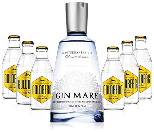 Gin Tonic Set - Gin Mare 70cl (42,7% Vol) + 6x Goldberg Tonic Water 200ml + Siegfried Gin mini 4cl (41% Vol) von Gin Mare