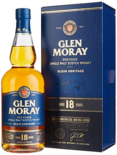 Glen Moray 18 Years Old Elgin Heritage First Fill American Cask mit Geschenkverpackung (1 x 0.7 l) von Glen Moray