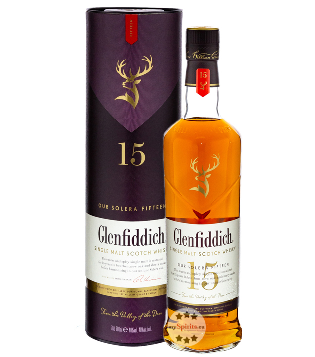 Glenfiddich 15 Jahre Single Malt Scotch Whisky Solera Reserve (40 % vol., 0,7 Liter) von Glenfiddich