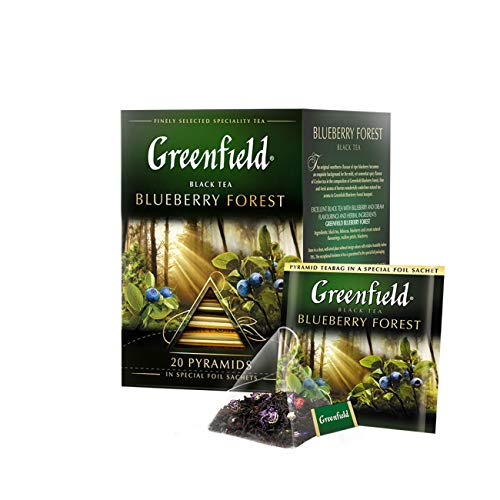 Greenfield Schwarztee Blueberry Forest 2er Pack (2 x 20 Pyramidenbeutel) Tee black Pyramid Tea von Greenfield