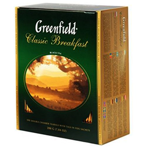 Greenfield Schwarztee Classic Breakfast 100 Beutel Assam Broken Tee black Tea von Greenfield