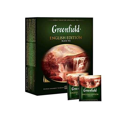 Greenfield Schwarztee English Edition 100 Teebeutel Ceylon Broken Tee black Tea von Greenfield