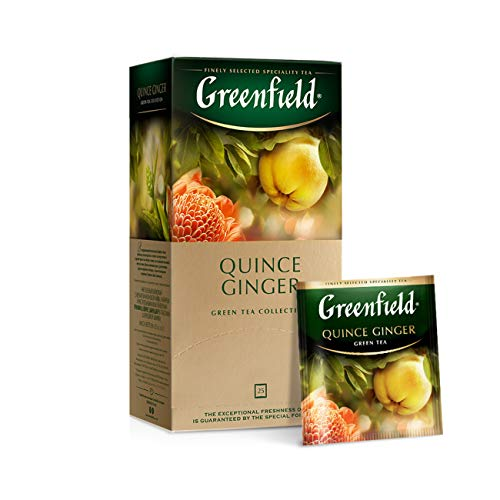 Tee Greenfield herbal QUINCE GINGER Grüner Tee 25 Beutel von Greenfield