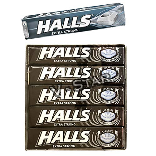 FULL BOX OF HALLS SUGAR FREE SWEETS 20 x 33g PER PACK (EXTRA STRONG) von HALLS