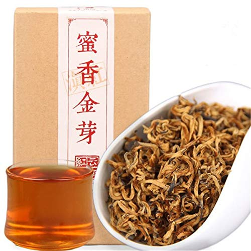 Yunnan schwarzer Tee 100g (0.22lb) chinesisches Kung Fu cha Fengqing Dianhong Tee roter frühes Frühlingshonigduft goldknospen große Blätter roter Tee von HELLOYOUNG