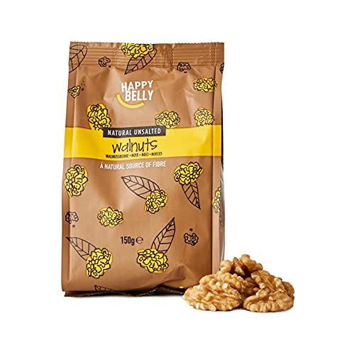 Amazon Marke - Happy Belly Walnüsse, 7x150 g von Happy Belly