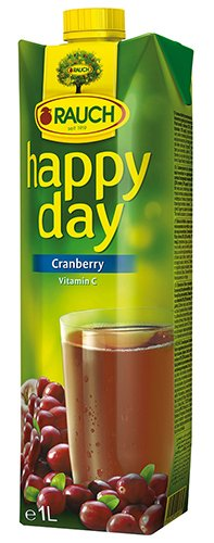 12x Happy Day - Cranberry, fruchtig-herb - 1000ml von Happy Day