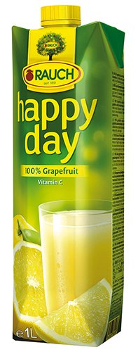 12x Happy Day - Grapefruit 100%, ohne Zuckerzusatz - 1000ml von Happy Day