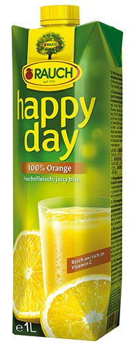 12x Happy Day - Orangensaft mit Fruchtfleisch - 1000ml von Happy Day