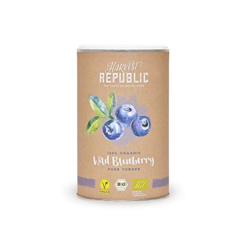 Harvest Republic 100% Organic Wild Blueberry Pure Powder, 125 g von Harvest Republic