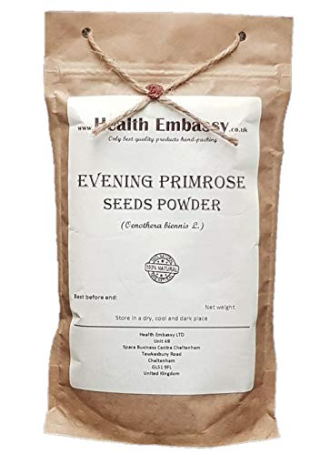 Gemeine Nachtkerze Samen - Pulver 50g (Oenothera Biennis) / Evening Primrose Seeds - Powder 50g - Health Embassy - 100% Natural von Health Embassy