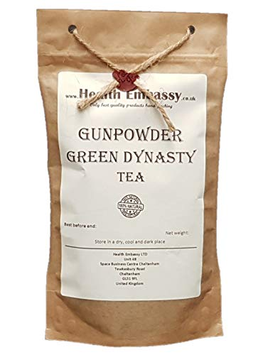 Gunpowder Grüner Tee 75g / Gunpowder Green Dynasty Tea 75g von Health Embassy