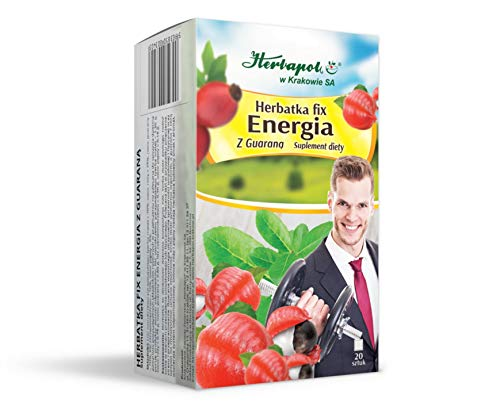 ENERGIE-TEE-FIX MIT GUARANA - ENERGY TEA FIX WITH GUARANA, 20 Teebeutel, Herbapol Krakow von Herbapol w Krakowie SA