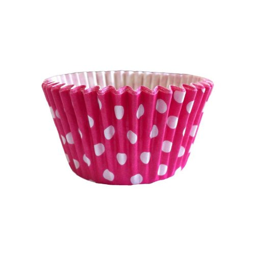 12 Pünktchen Design Muffinförmchen: Kirschrot / 12 Polka Dot Muffin Cases: Cerise von Holly Cupcakes