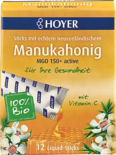 Hoyer Bio Manukahonig Liquid-Sticks MGO 150 (6 x 12 Stk) von Hoyer