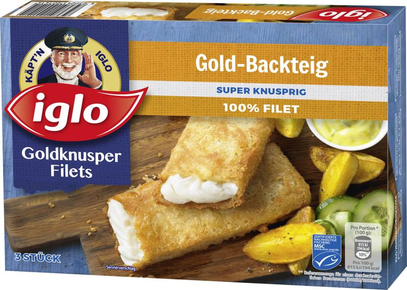 Iglo Goldknusper-Filets Gold-Backteig von Iglo
