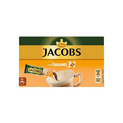 Jacobs 3 in1 Typ Caramel, 10 Sticks pro Packung, 12er Pack (12 x 169 g) von Jacobs