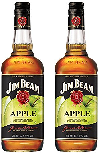 Jim Beam Apfel Likör Bourbon Whiskey (2 x 0.7 l) von Jim Beam