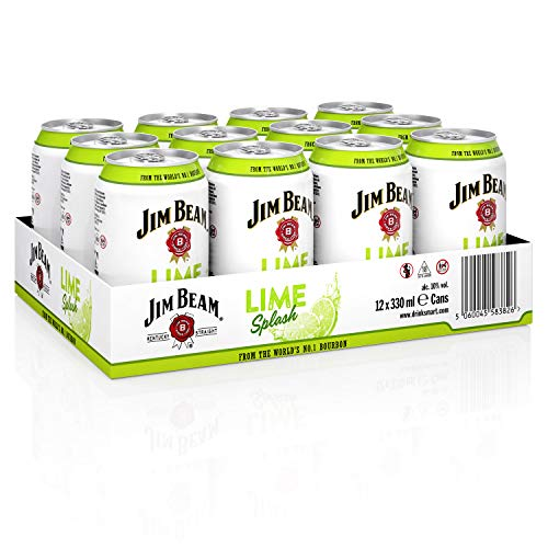 Jim Beam Lime Splash Bourbon Whiskey-Mix Dose, EINWEG (12 x 0.33 l) von Jim Beam