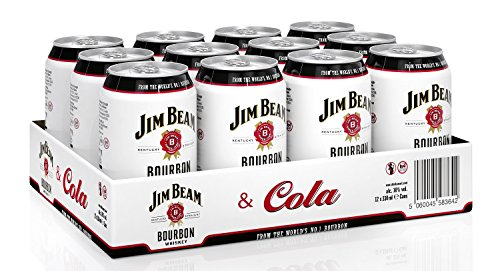 Jim Beam & Cola Bourbon Whiskey Dose, EINWEG (12 x 0.33 l) von Jim Beam