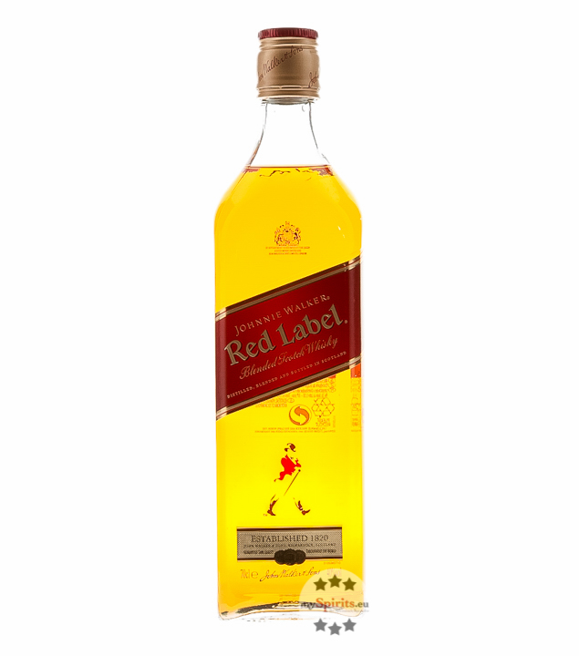 Johnnie Walker Red Label Blended Scotch Whisky 0,7l (40 % vol., 0,7 Liter) von John Walker & Sons