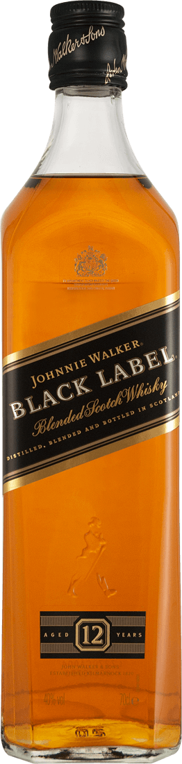 Johnnie Walker Black Label Whisky 40% vol. in Geschenkverpackung von Johnnie Walker