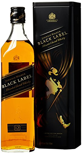 Johnnie Walker Black Label Blended Scotch Whisky mit Geschenkdose (1 x 0.7 l) von Johnnie Walker