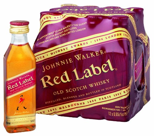 Johnnie Walker - Red Label Blended Scotch Whiskey 'Miniaturen'- 12 x 0,05l von Johnnie Walker